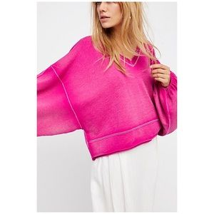 Free people oh my sleeve pullover sweater